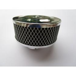 Luftfilter Chrom mit Gitter 75mm hoch