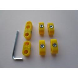 Zündkabelklemmen gelb /Satz