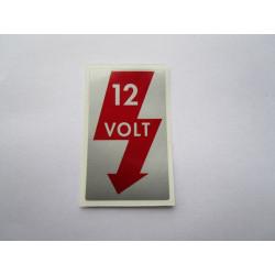 Aufkleber 12 Volt A-Säule